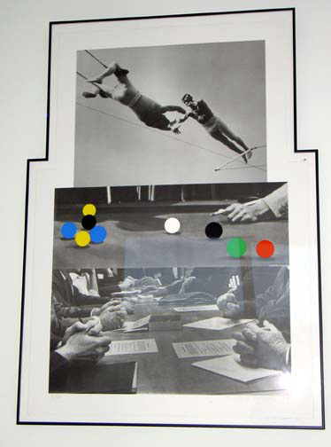 John Baldessari - Three Moments (with Pool Table), 1992/99, black lithography all other colors silkscreen