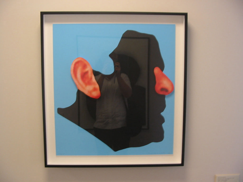 John Baldessari - Noses & Ears, Etc.: The Gemini Series: Profile with Ear and Nose (Color), 2006, two-layer, seven-color screenprint; mounted on Sintra and framed