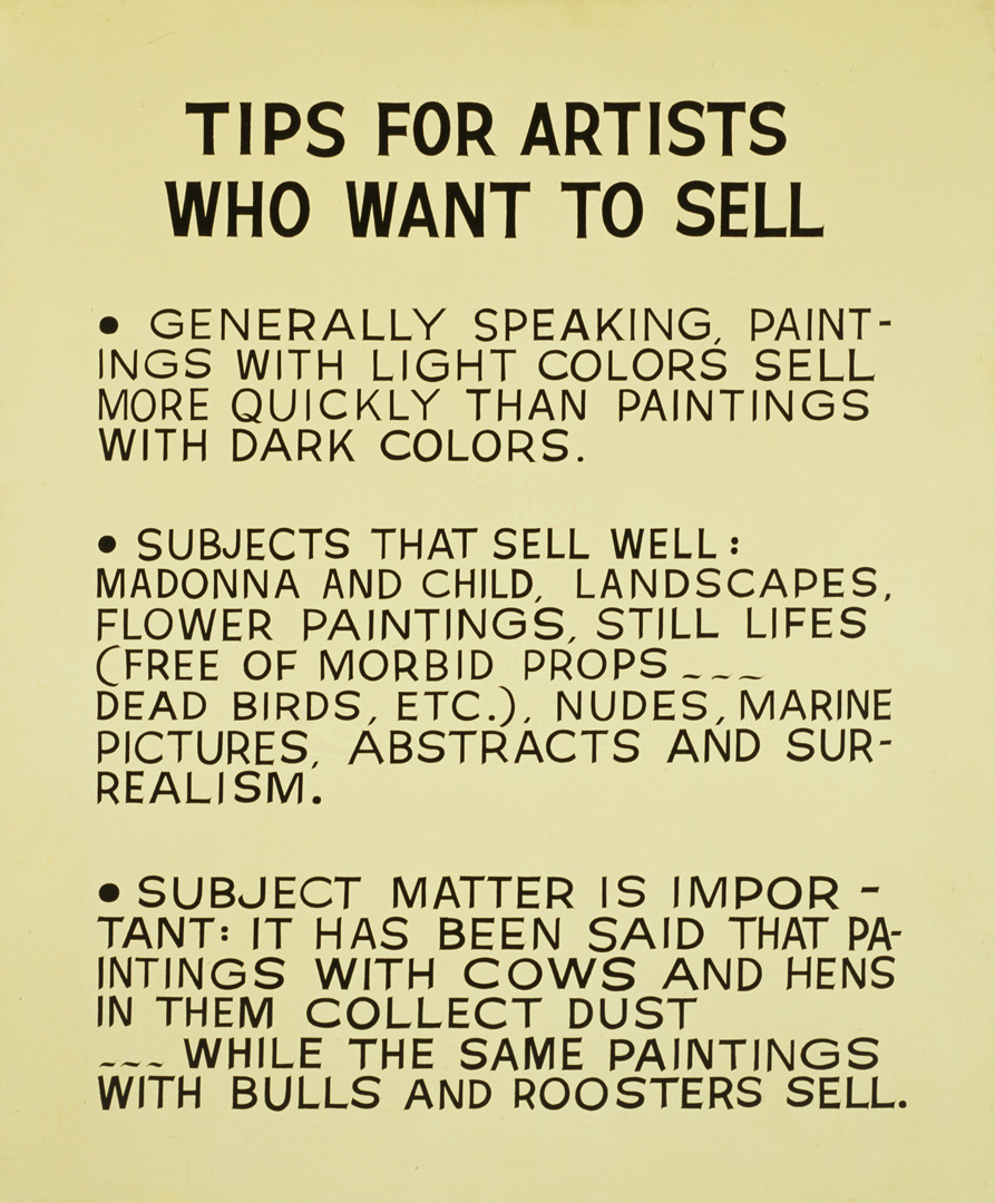 tips for artists who want to sell the broad