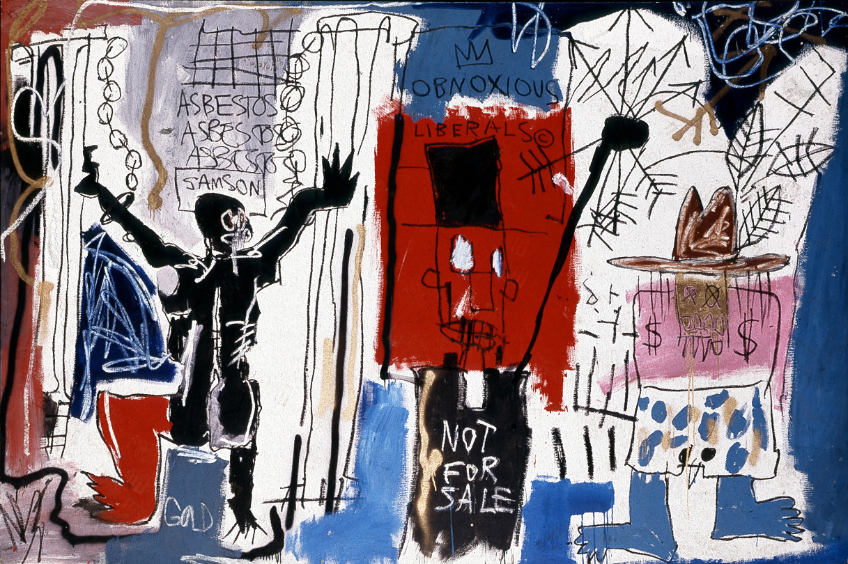 Jean‐Michel Basquiat - Obnoxious Liberals, 1982, acrylic, oilstick, and spray paint on canvas