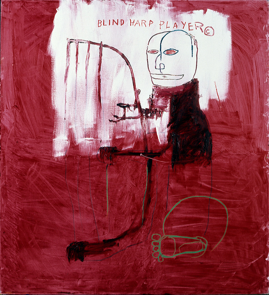 Jean‐Michel Basquiat - Deaf, 1984, acrylic and oilstick on canvas