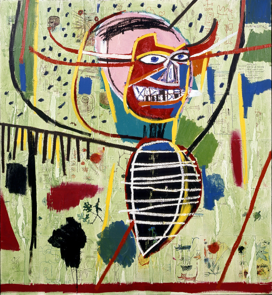 Jean‐Michel Basquiat - Pink Devil, 1984, acrylic, oilstick, and xerox collage on canvas