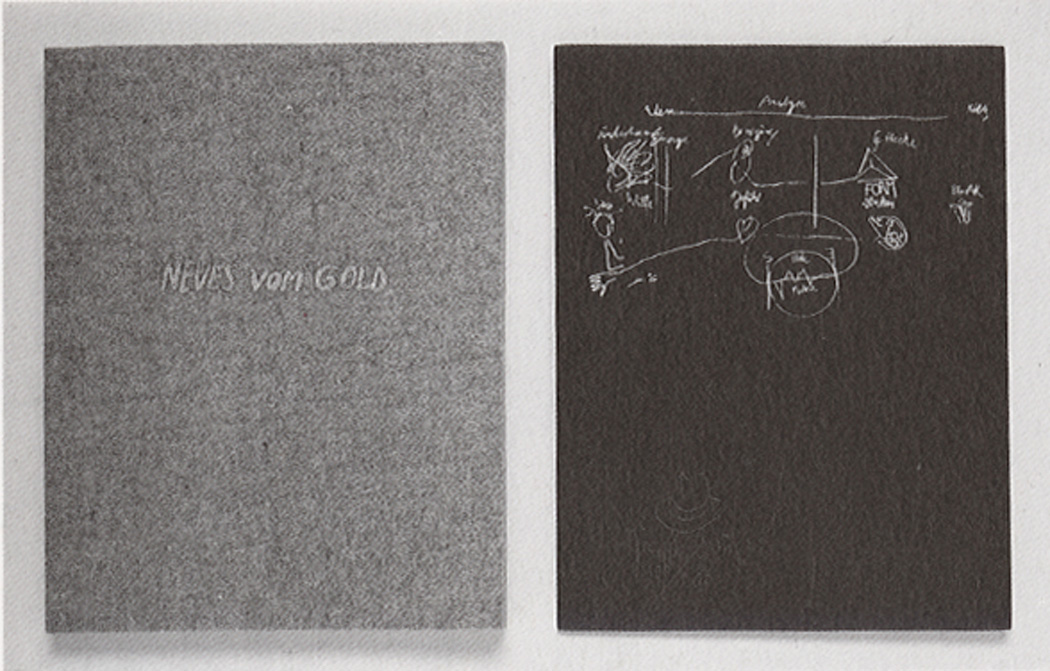 Joseph Beuys - aus from source to use, 1985, silkscreen on felt; silkscreen on plywood