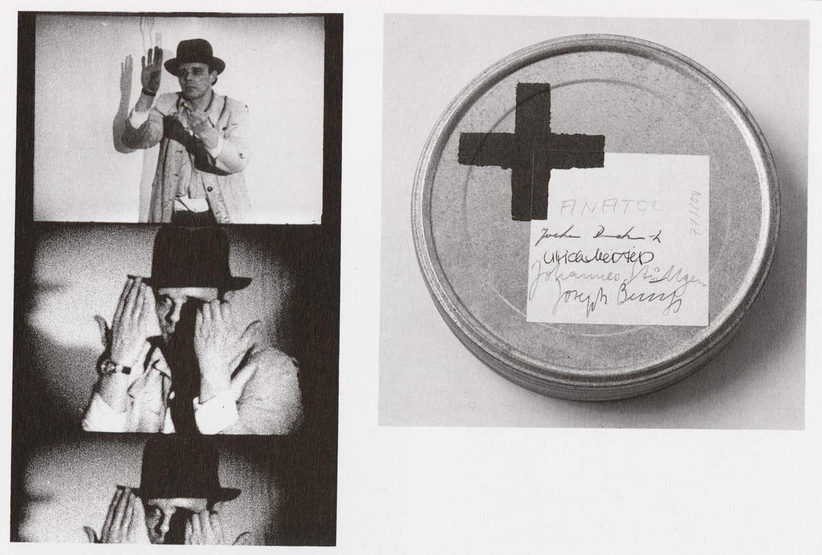 Joseph Beuys - Der Tisch, 1971, film (super 8) and magnetic tape in film can, label with oil paint (Browncross)