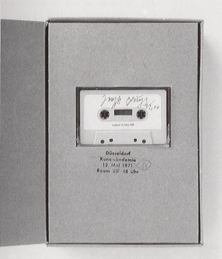 Joseph Beuys - Edition 12. Mai 1981, 1981, book, similia similibus, stamped, and tape cassette; in cardboard box, stamped