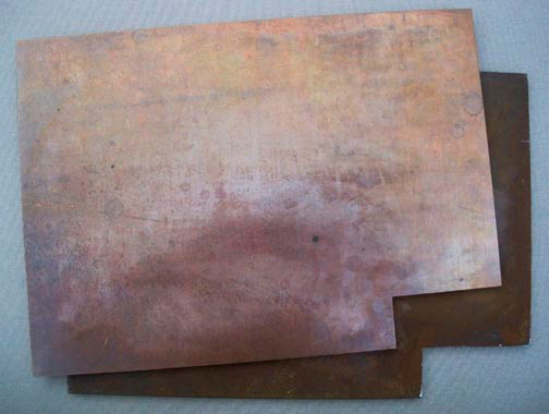 Joseph Beuys - ELEMENT, 1982, copper plate and iron plate