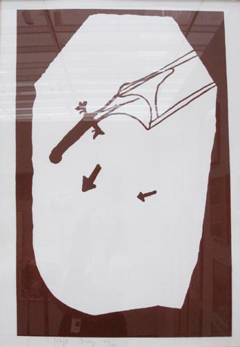 Joseph Beuys - Elch in der Strömung, 1985, silkscreen on cardstock