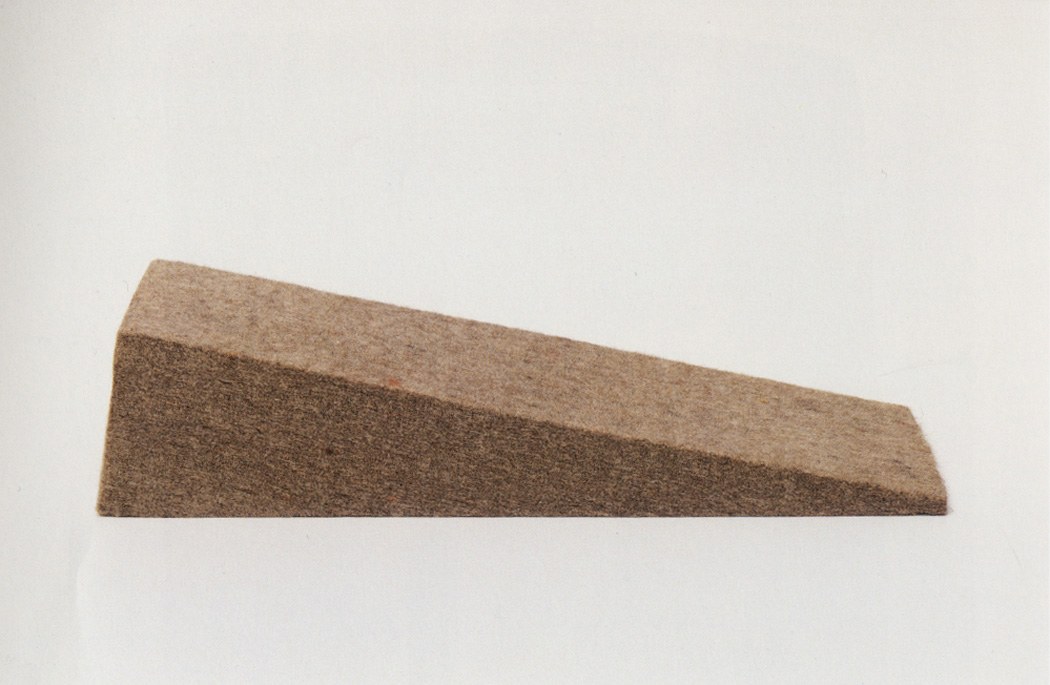 Joseph Beuys - Filzwinkel, 1984-86, compressed felt
