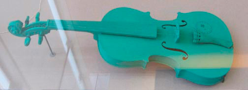Joseph Beuys - Grüne Geige, 1974, violin painted green, stamped