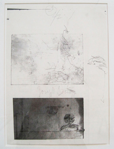 Joseph Beuys - Iphigenie-Set, 1974, one of eight offset prints mounted on cardstock