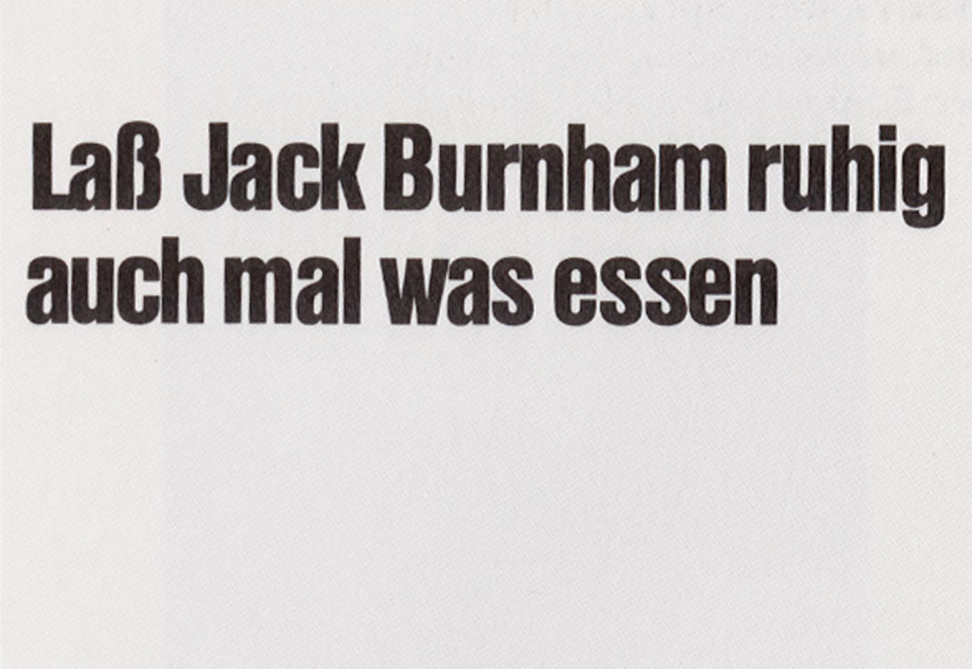 Joseph Beuys - Jack Burnham, 1974, offset on cardstock, stamps reproduced