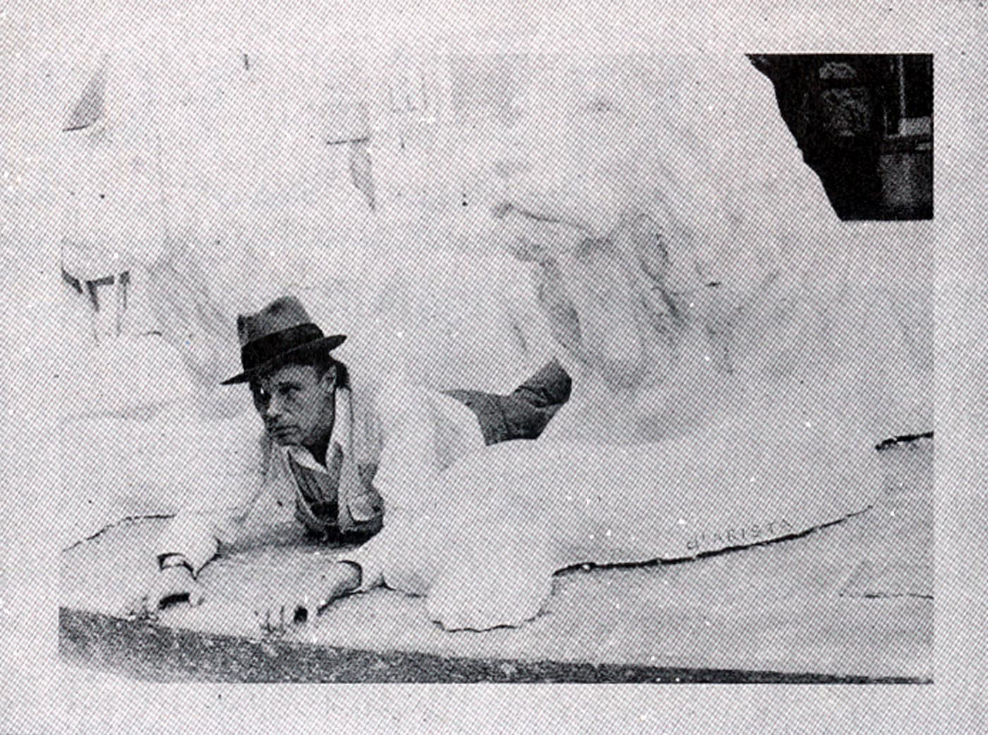 Joseph Beuys - Löwe, 1975, silkscreen on gray cardboard