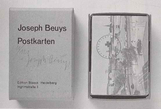 Joseph Beuys - Postkarten, 1974, box with 26 postcards and two postcard objects