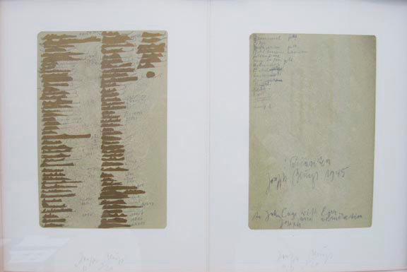 Joseph Beuys - :Quanten, 1982, two-part color silkscreen on wove paper