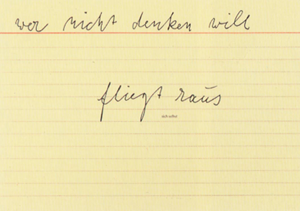 Joseph Beuys - sich selbst, 1977, offset on cardstock, stamps reproduced