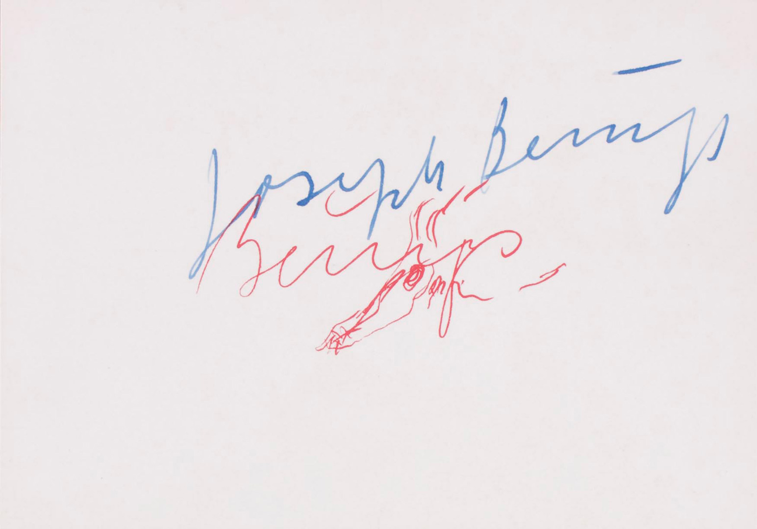 Joseph Beuys - Signatur 1956, 1973, offset on cardstock, stamps reproduced
