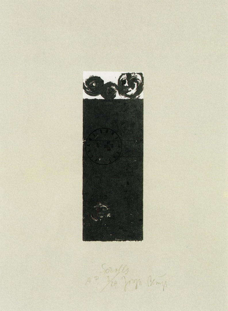 Joseph Beuys - Suite Schwurhand: Scrolls, 1980, lithograph on paper laid down on gray Rives wove