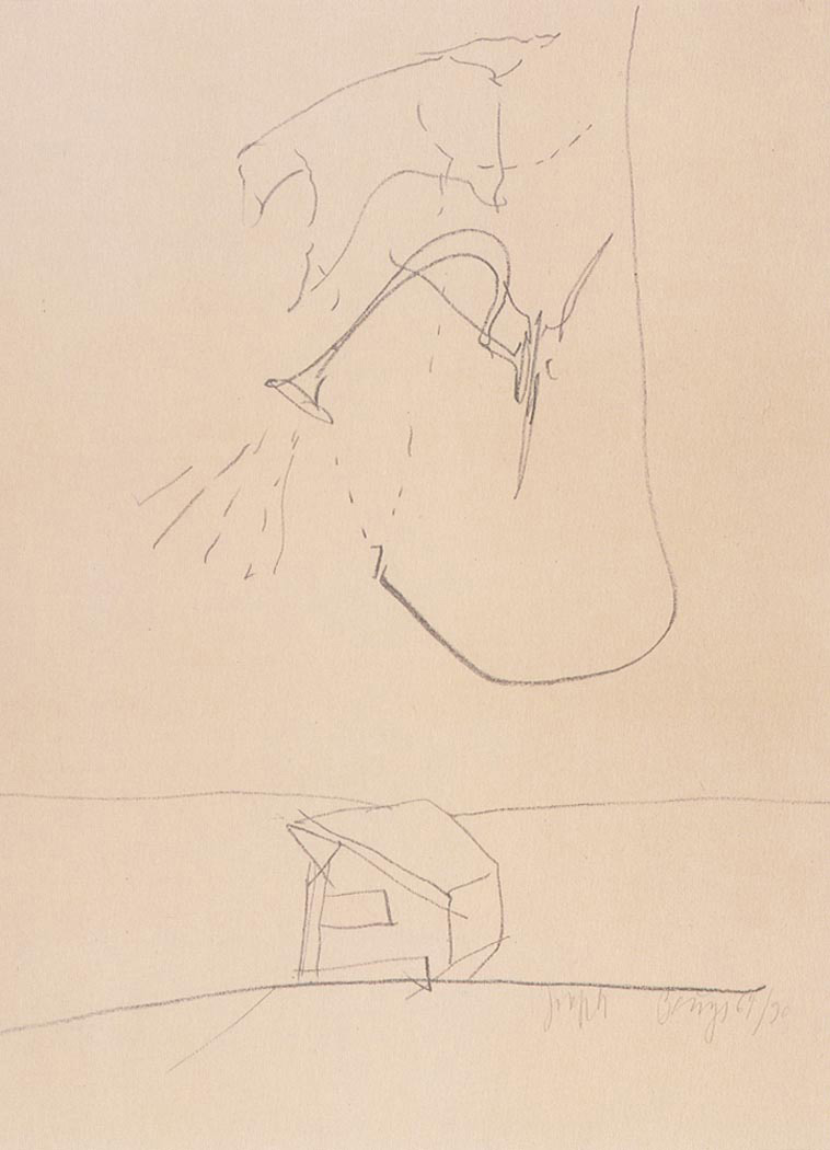 Joseph Beuys - Triptychon: Constellation of the Dipper, 1981, lithograph on cardstock