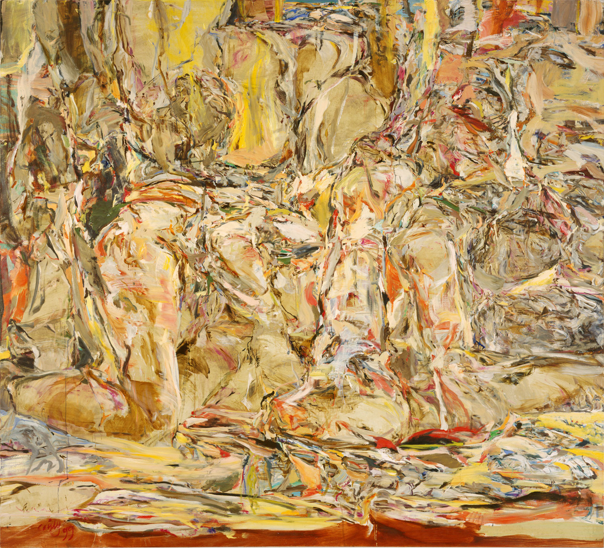 Cecily Brown - Tender is the Night, 1999, oil on linen
