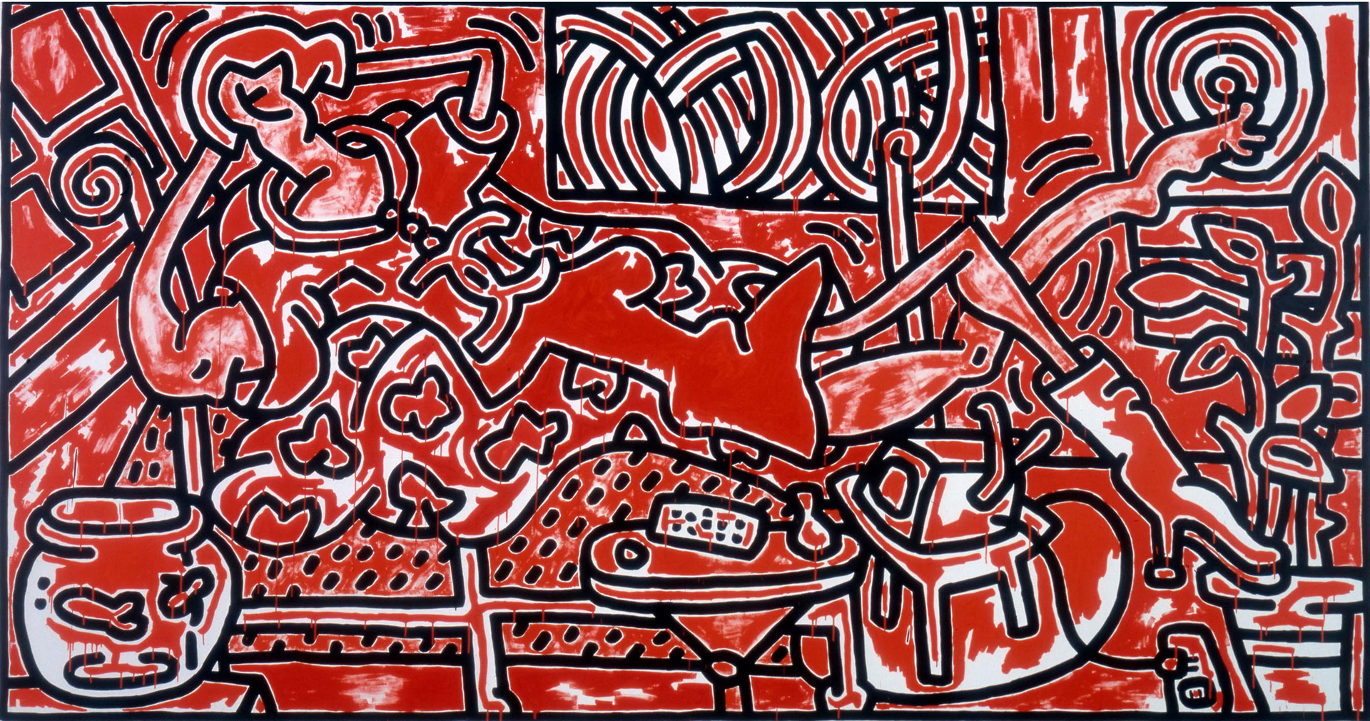 Red Room Keith Haring The Broad