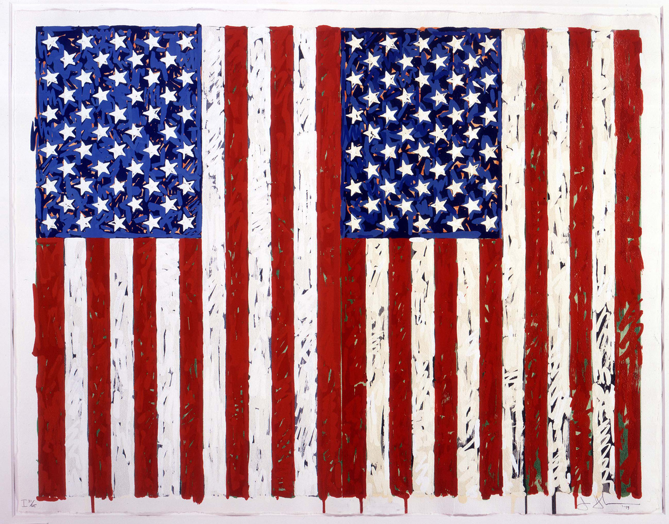 Jasper Johns - Flags I, 1973, silkscreen, 31 screens