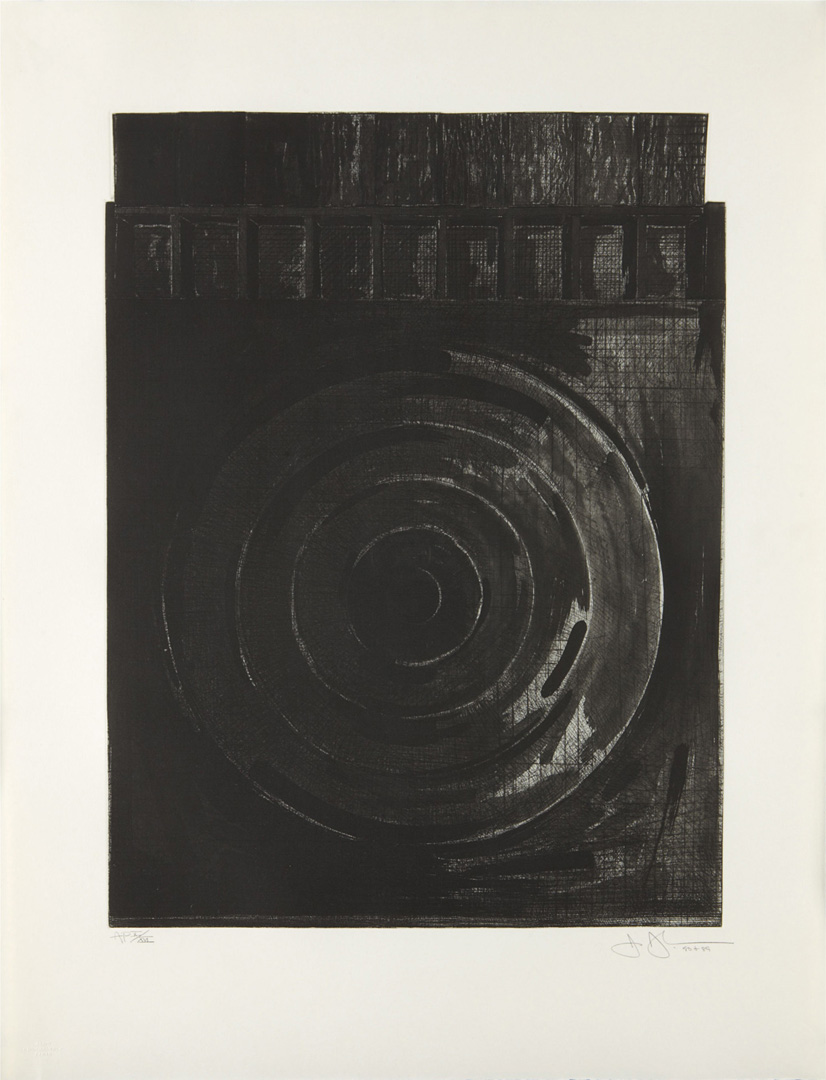 Jasper Johns - Target with Plaster Casts, 1990, drypoint, with etching and aquatint