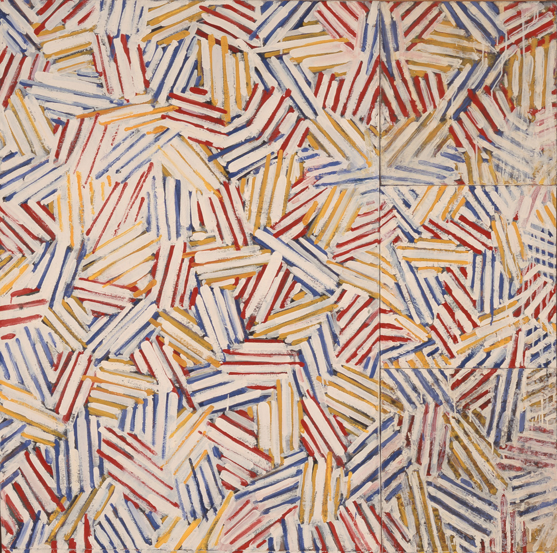 Jasper Johns - Untitled, 1975, oil and encaustic on canvas (four panels)