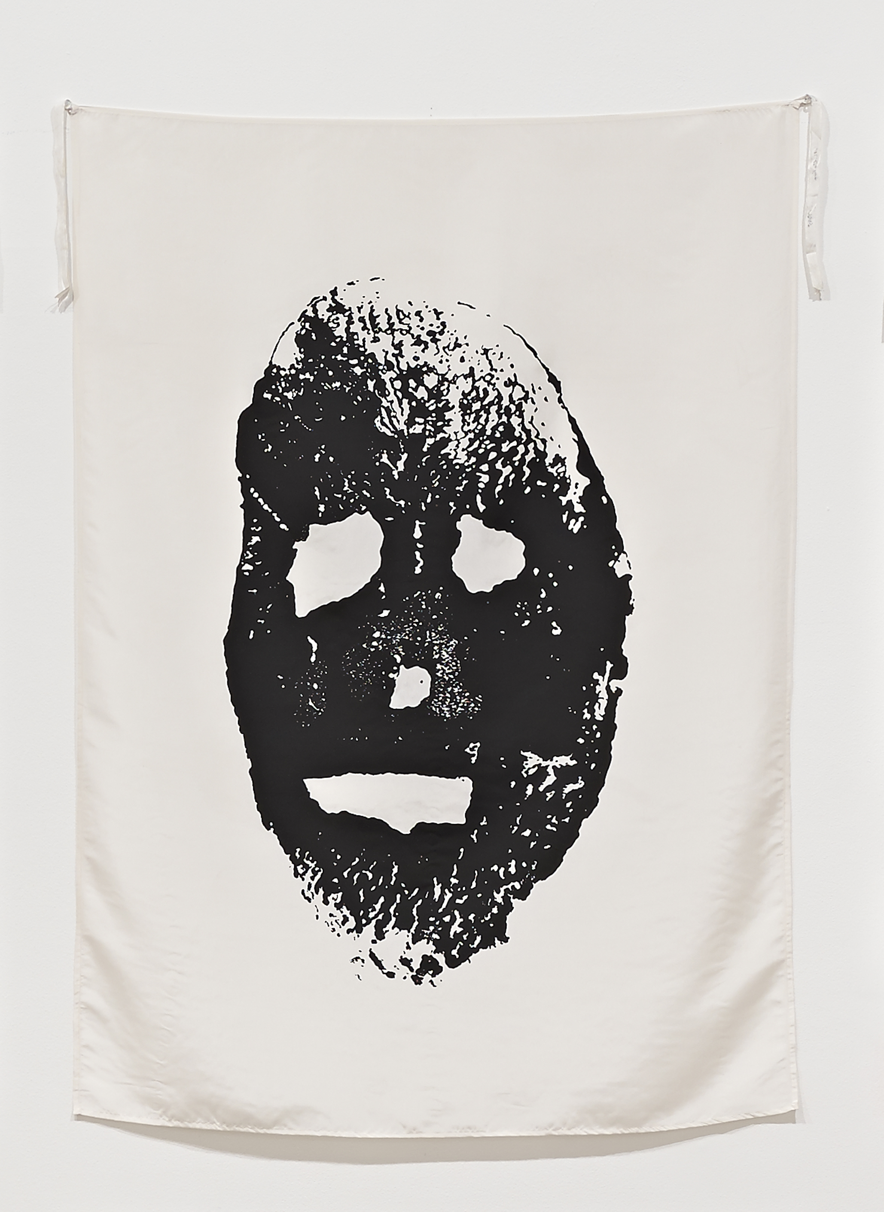 "Mike Kelley - Blood and Soil (Potato Print) (from series ""Pansy Metal/Clovered Hoof""), 1989, screenprint on silk"
