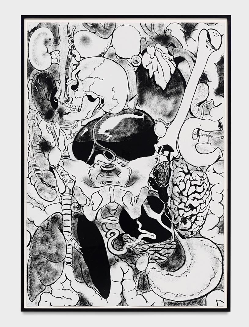 Mike Kelley - Microcosm, 1988, acrylic on paper