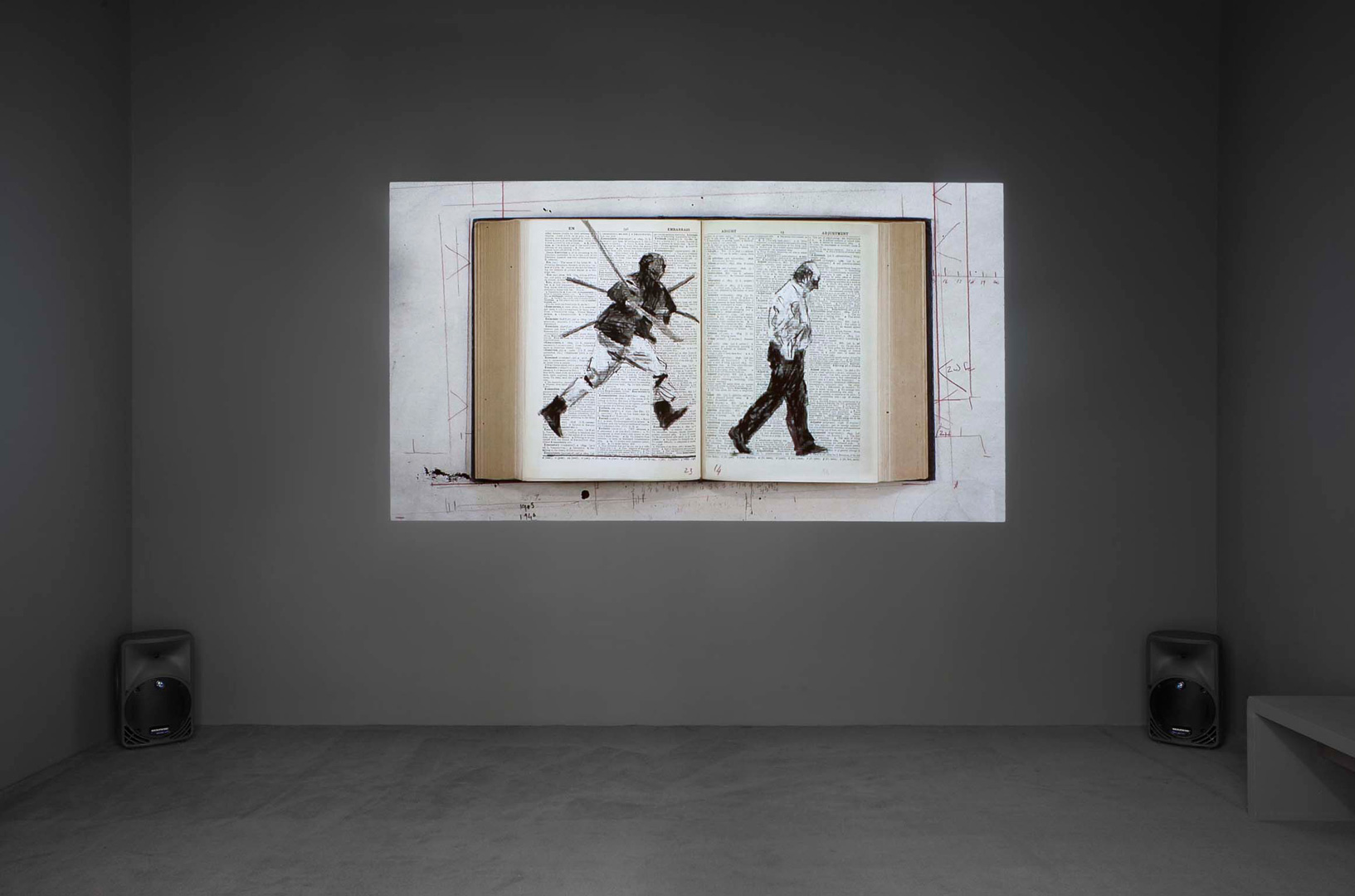 William Kentridge - Second-hand Reading, 2013, single channel HD video