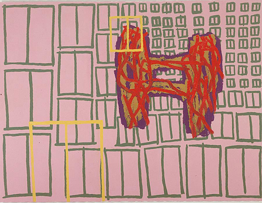 Jonathan Lasker - Cultural Promiscuity, 1986, oil on canvas