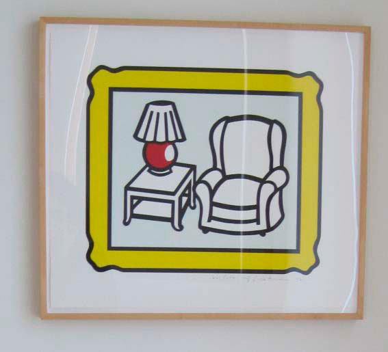 Roy Lichtenstein - Red Lamp, 1992, lithograph on Rives BFK paper