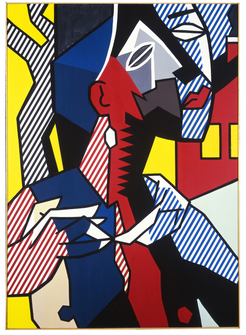 Roy Lichtenstein - Female Figure, 1979, oil and Magna on canvas