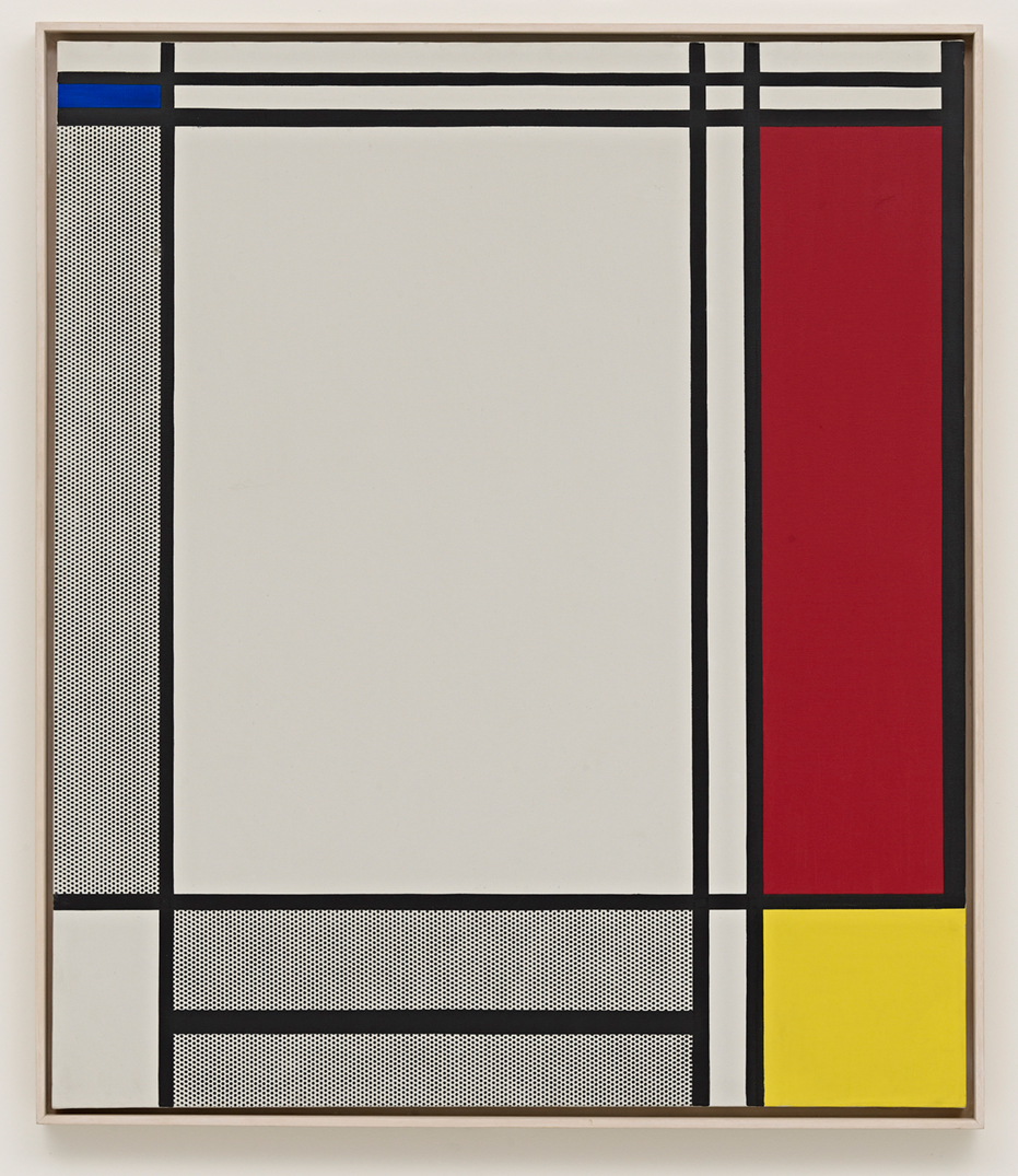 Roy Lichtenstein - Non-Objective I, 1964, oil and Magna on canvas