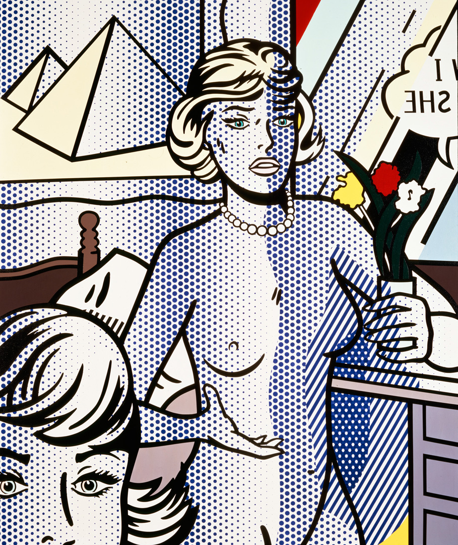 Roy Lichtenstein - Nude with Pyramid, 1994, oil and Magna on canvas
