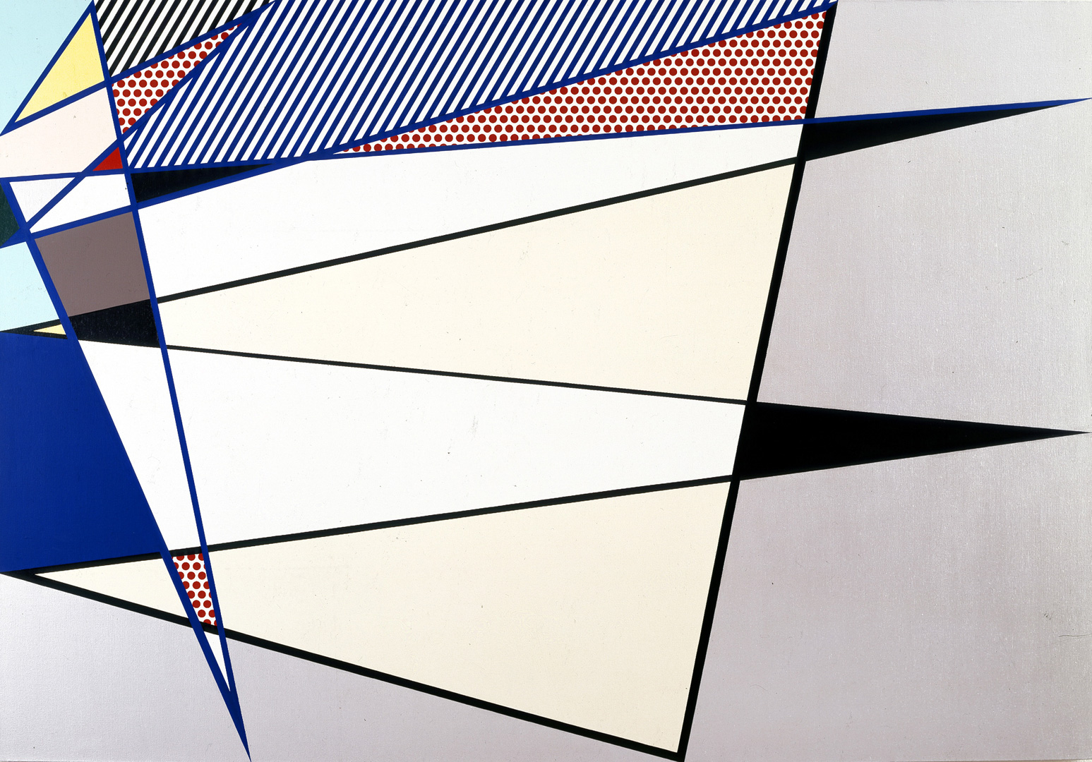 Roy Lichtenstein - Perfect Painting, 1986, oil and Magna on canvas
