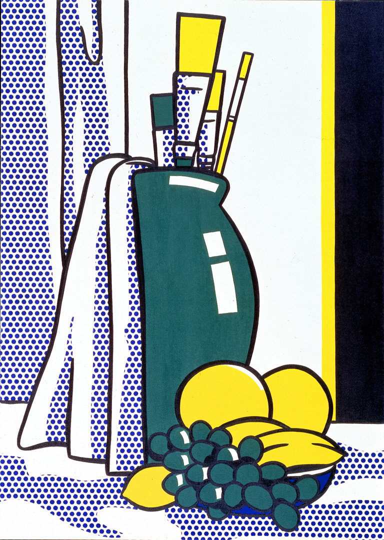 Roy Lichtenstein - Still Life with Green Vase, 1972, oil and Magna on canvas