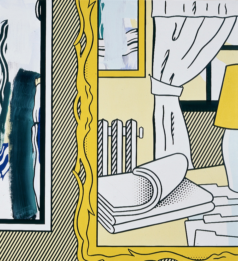 Roy Lichtenstein - Two Paintings: Radiator and Folded Sheets, 1983, oil and Magna on canvas