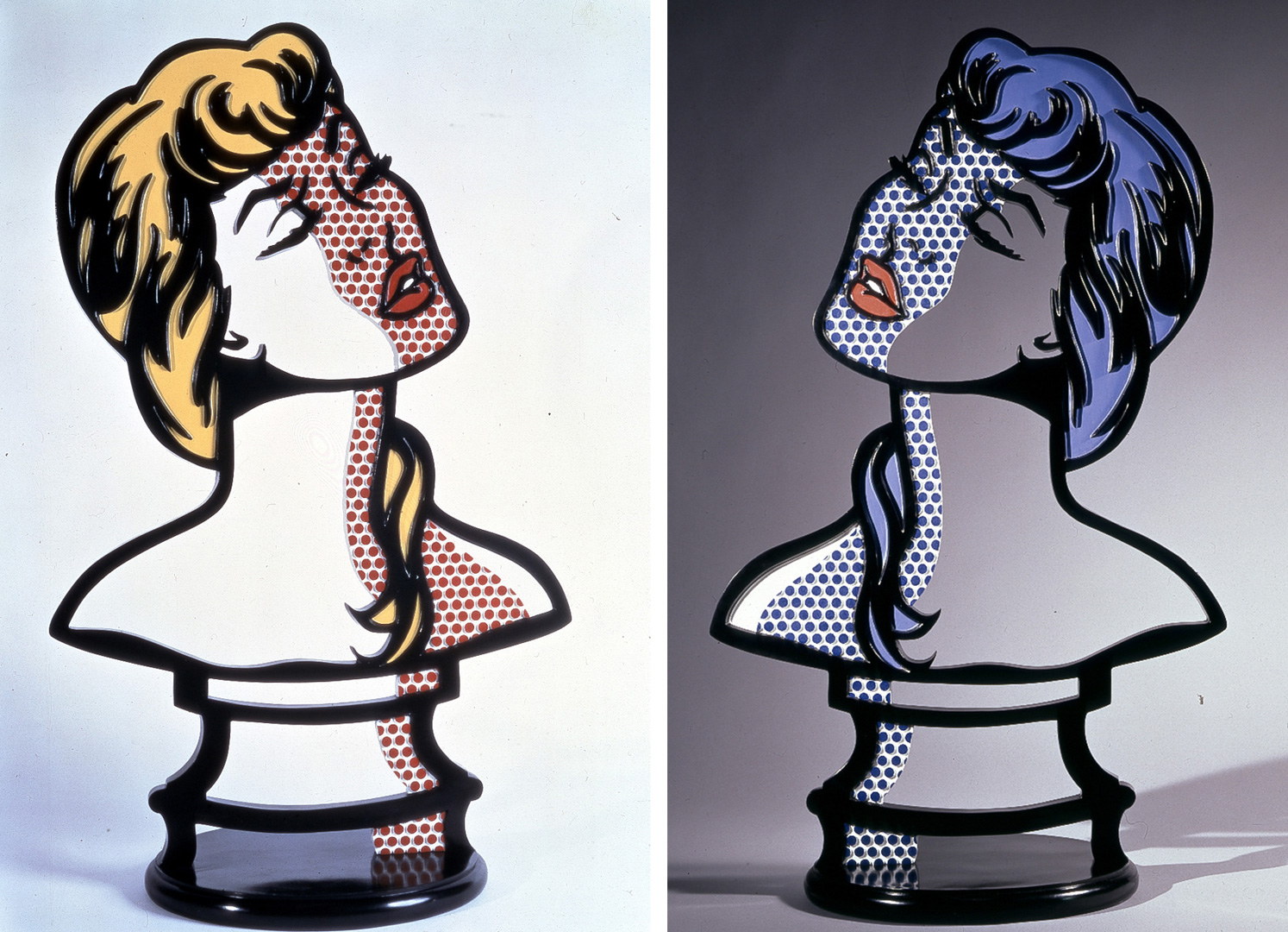 Roy Lichtenstein - Woman: Sunlight, Moonlight, 1996, painted and patinated bronze