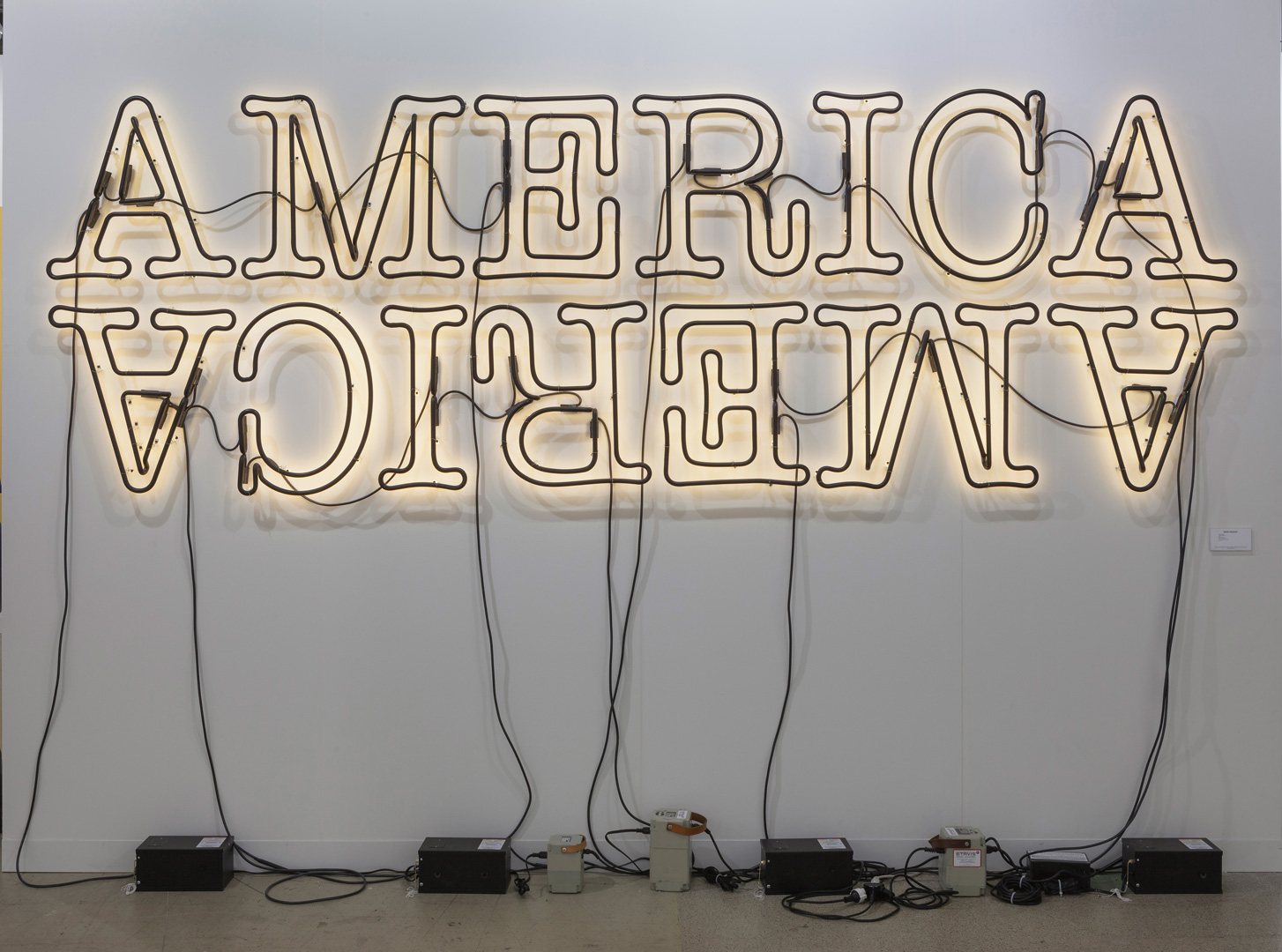 Glenn Ligon - Double America 2, 2014, neon and paint