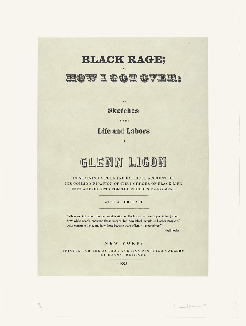 Glenn Ligon - Narratives, 1993, suite of nine etchings with chine collé