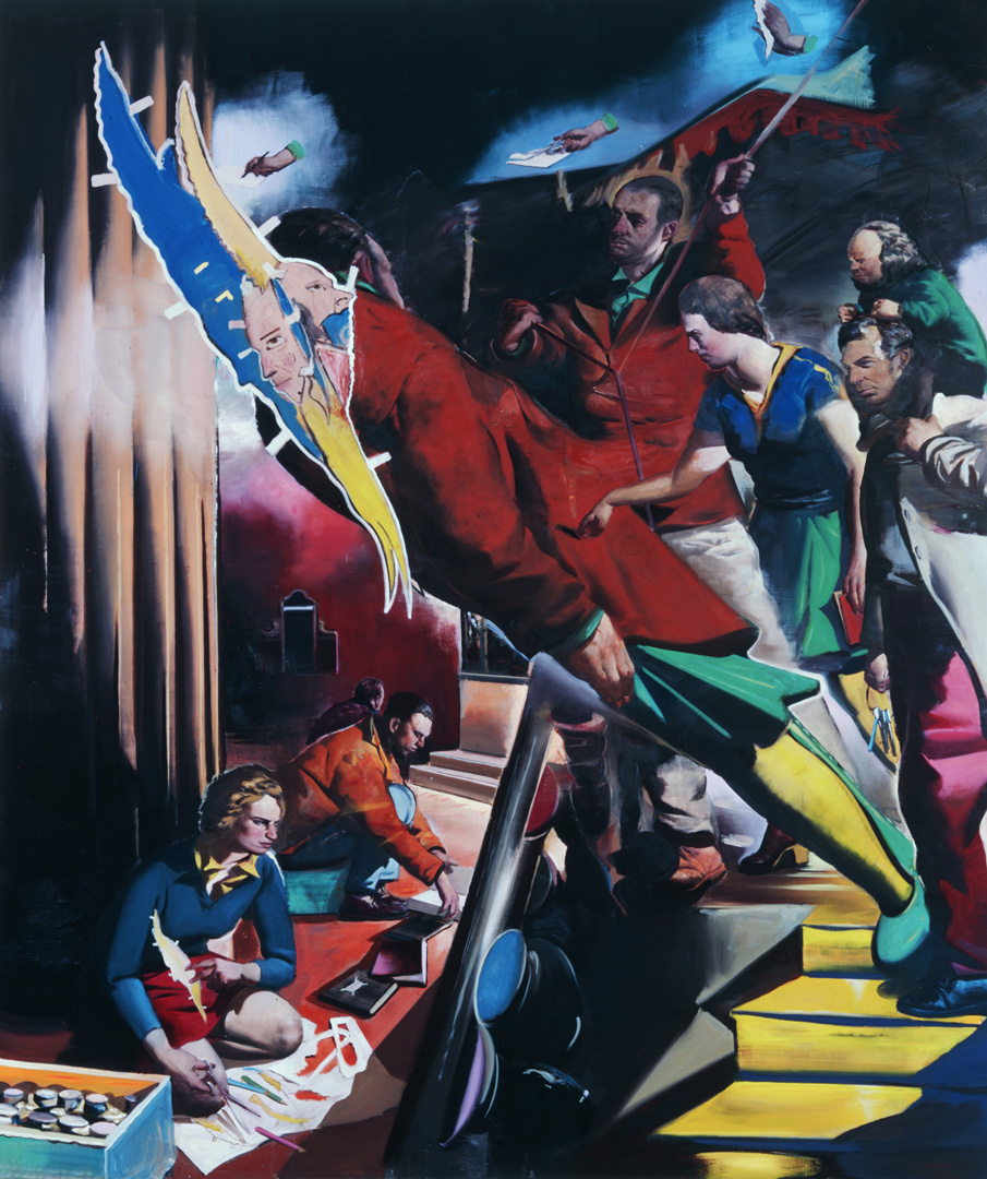 Neo Rauch - Entfaltung, 2008, oil on canvas