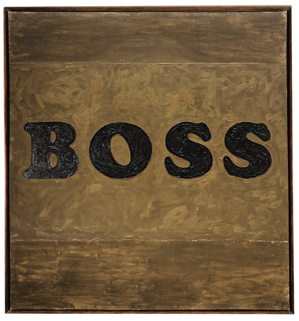 Ed Ruscha - Boss, 1961, oil on canvas