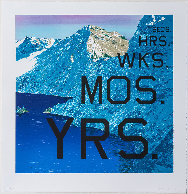 Ed Ruscha - PERIODS, 2013, lithograph