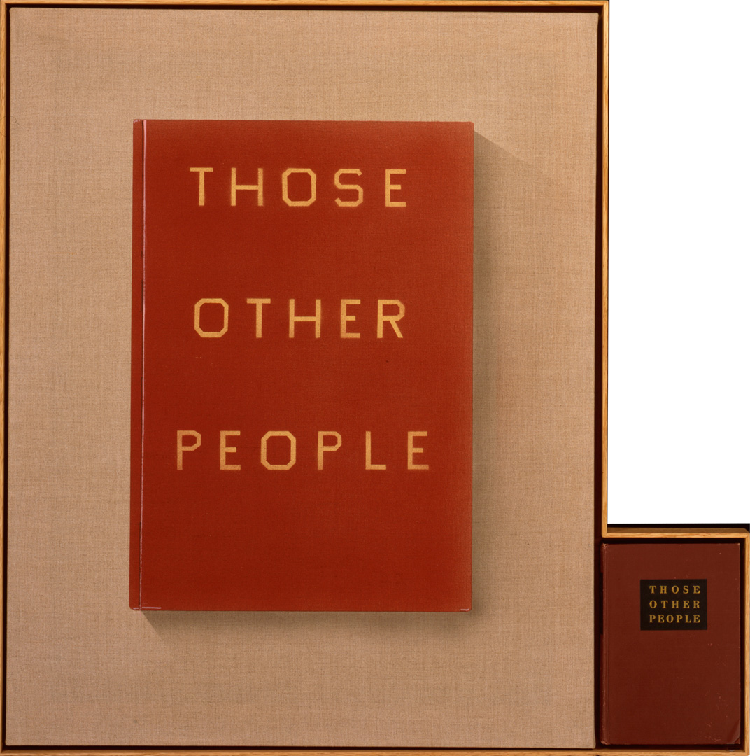 Ed Ruscha - THOSE OTHER PEOPLE, 2011, acrylic on linen