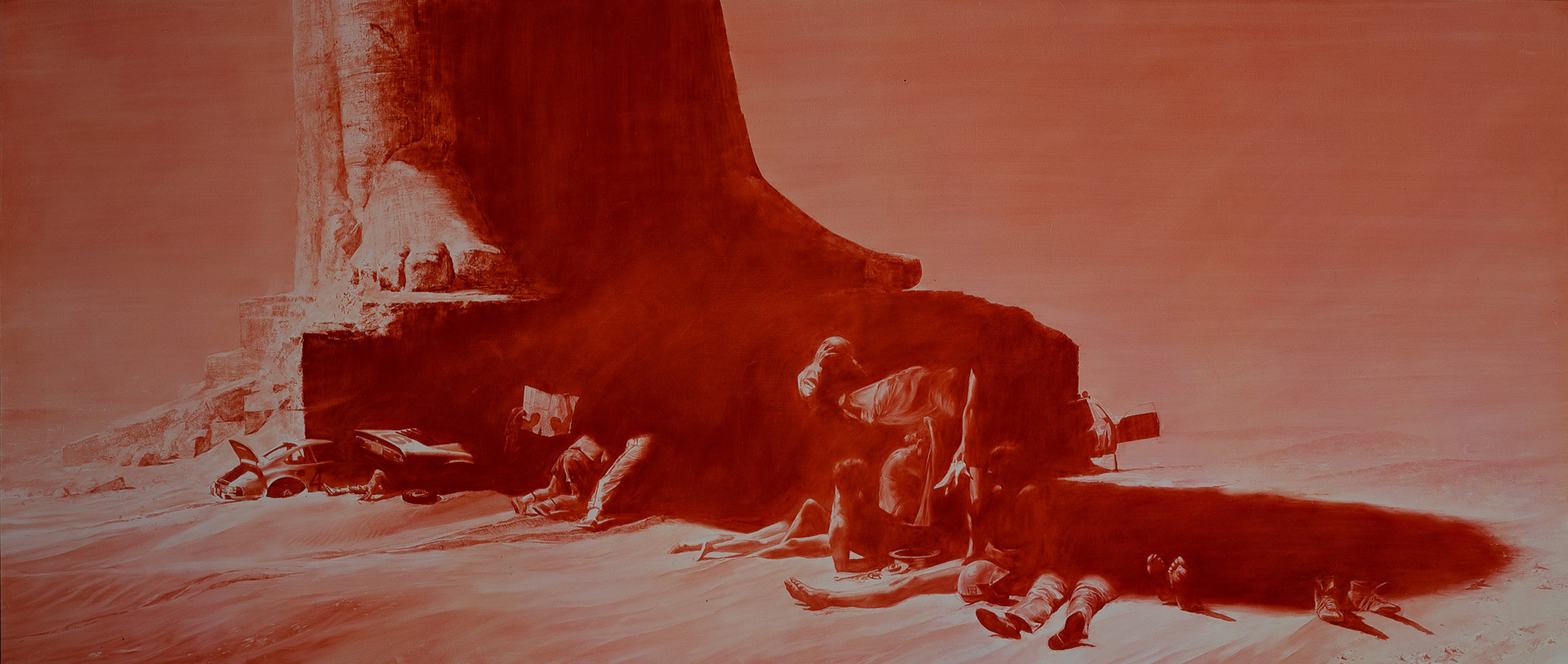 Mark Tansey - Arrest, 1988, oil on canvas