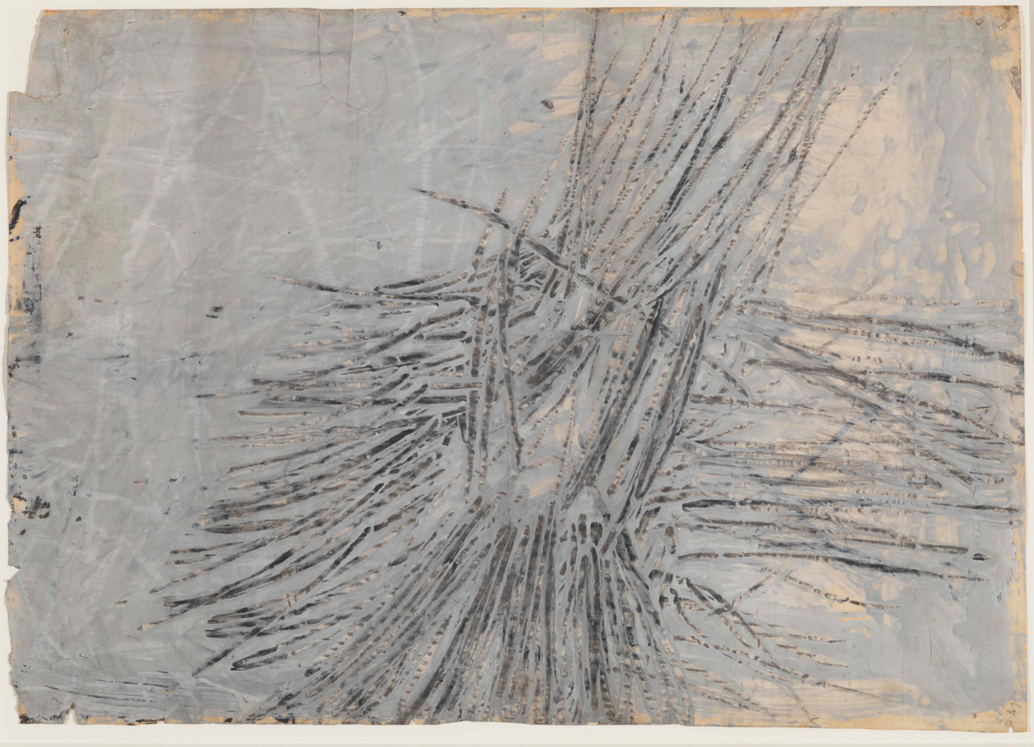 Cy Twombly - La-La, 1953, oil-based house paint and graphite on paper