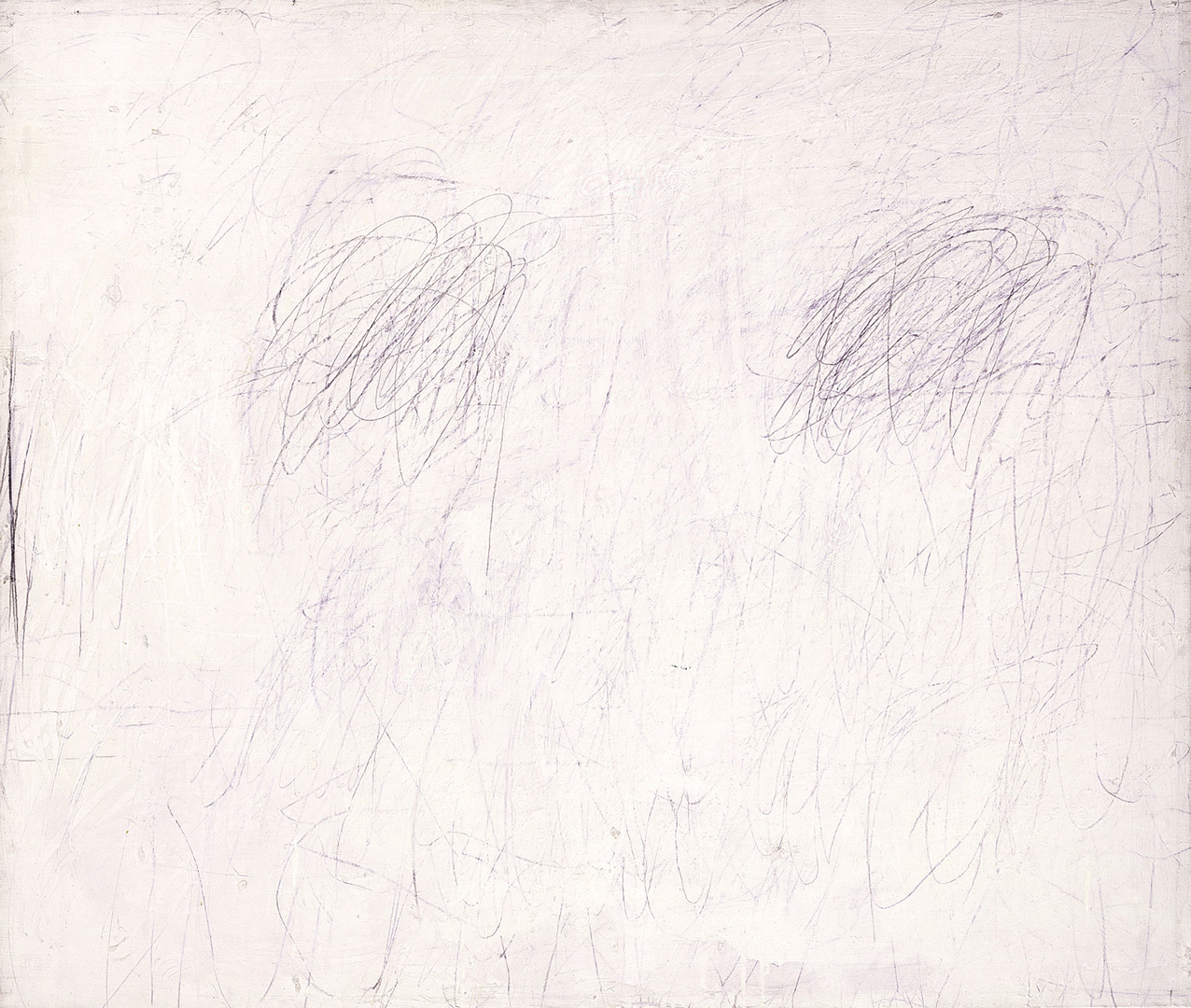 Cy Twombly - Untitled [New York City], 1955, oil based house paint and lead pencil on canvas