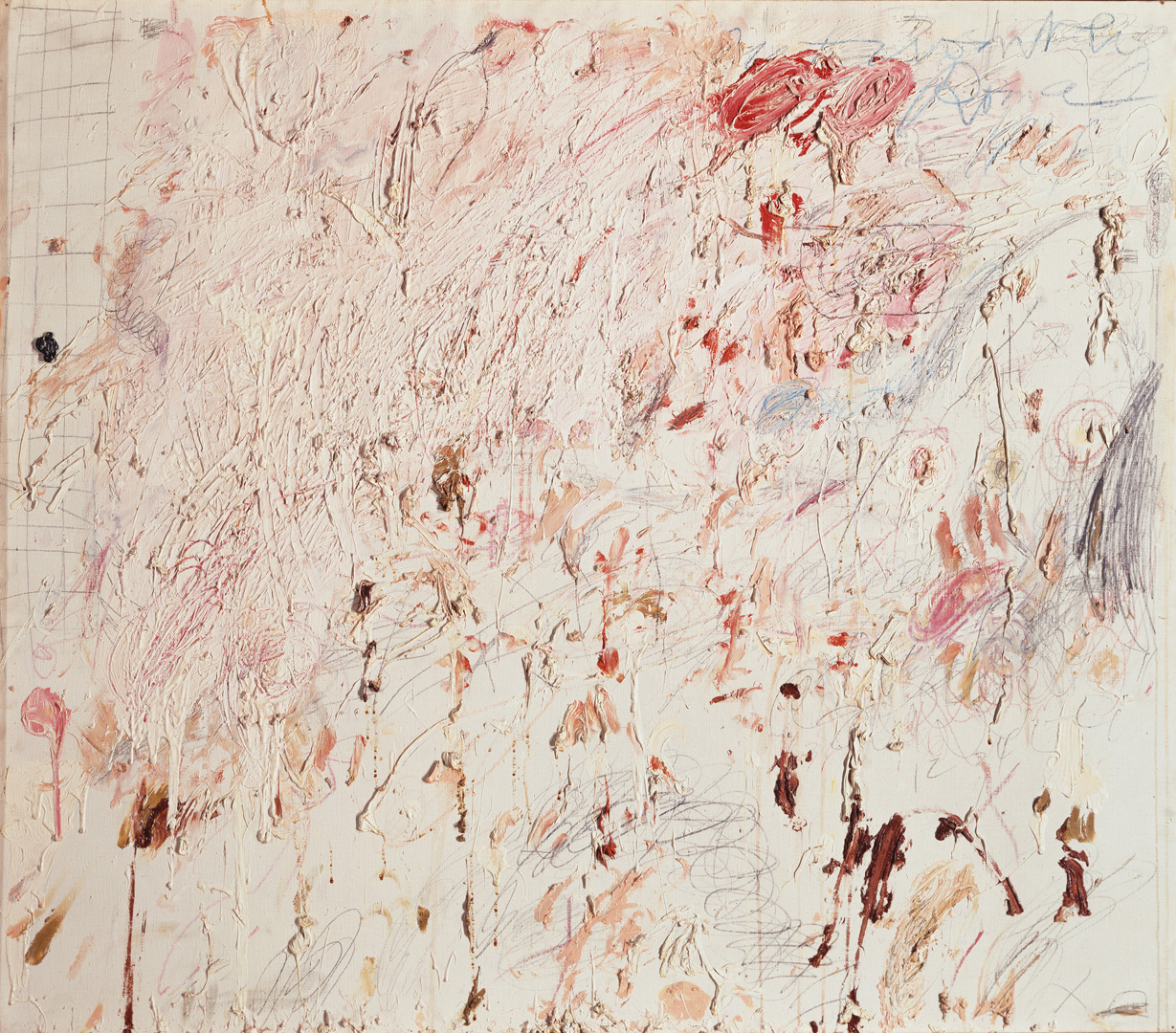 Cy Twombly - Untitled [Rome], 1961, oil paint, wax crayon and lead pencil on canvas