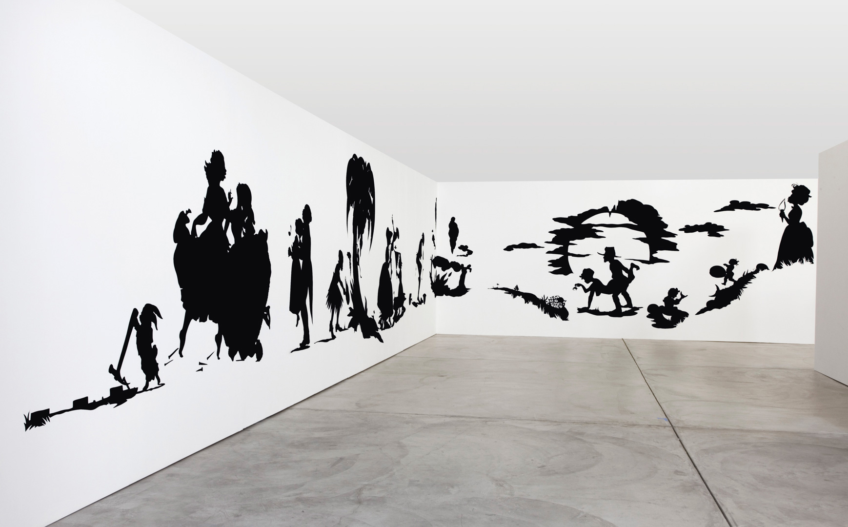 Kara Walker - African't, 1996, cut paper on wall